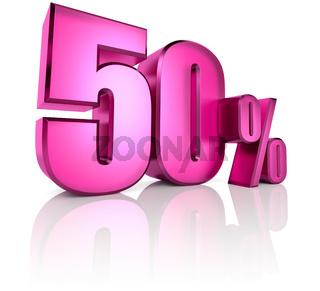 Fifty Percent Sign