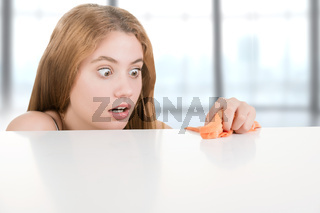 Woman Cleaning Her Desk