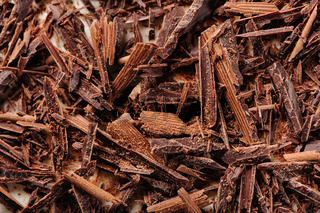grated chocolate closeup