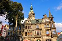 Glatz Rathaus - the town Klodzko (Glatz) in Silesia, Poland, Town Hall