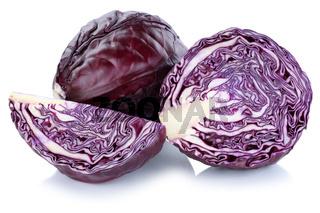 Blaukraut Rotkohl Kraut geschnitten Gemüse Freisteller freigestellt isoliert