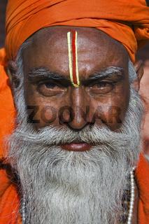 Indischer Mann, Sadhu, Nordindien, Indien - indian man, sadhu, Northindia, India, Asia