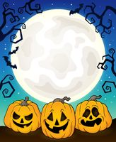 Halloween pumpkins theme image 8 - picture illustration.