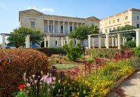 The view of Villa Bighi with garden. Kalkara. Malta