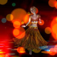 3D Illustration of a dancing Girl