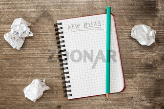 Notebook for new ideas