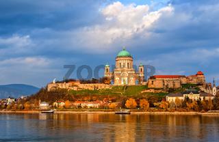 Esztergom Basilica on Danube River, Hungary