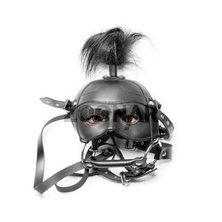 sadomasochism mask with eyes