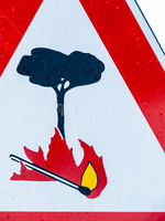 Signage plate attention fire danger