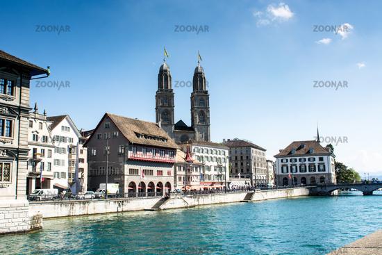 The city Zurich in Switzerland