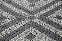 Paving stones street with pattern