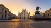 Duomo Milan at sunrise