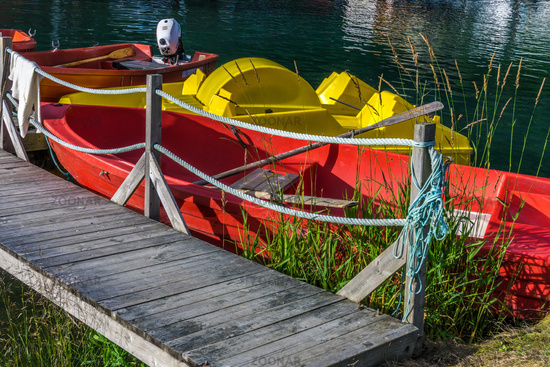 Colourful boats in Norway
