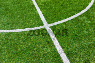 Lines on soccer football field