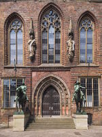 Bremen - Town Hall, lateral portal, Germany