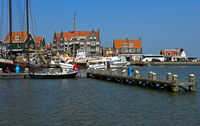 Harbor basin at Volendamm, North Holland, Netherlands