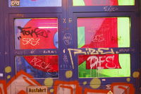 Old Window with Graffiti