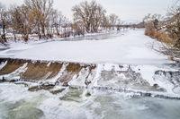 diversion dam on Poudre River