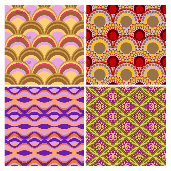set of seamless ethnic background