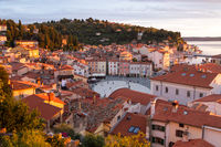 Picturesque slovenian old town Piran