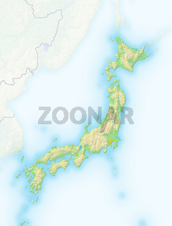 Japan, Reliefkarte.
