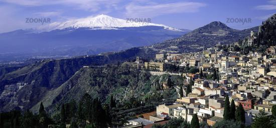 Taormina, Aetna, Sizilien, Italien