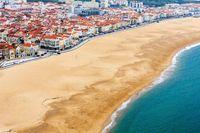 Nazare coast view (Portugal).