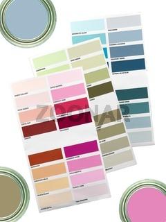 A color paint chart showing modern colors