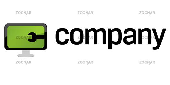computer repair logo. Computer repair service logo