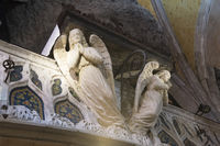 Angel in church Notre-dame
