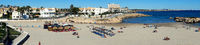 Panorama of Cala Capitan beach in the Cabo Roig. Spain