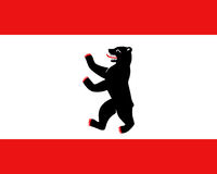 Fahne von Berlin - Colored flag of Berlin
