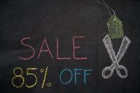Sale 85% off on chalkboard
