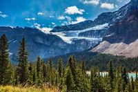 Canada, Glacier Crowfoot over Bow River