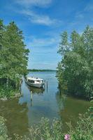 Tourboat at Lake Dieksee in Malente-Timmdorf,Holstein Switzerland,Germany