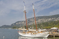 Old traditional sailboat