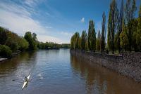 rowing on Alster at Hamburg
