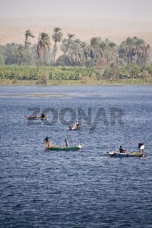 Fischerboote auf dem Nil fishing boat