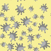 Grey blot cartoon seamless pattern 622