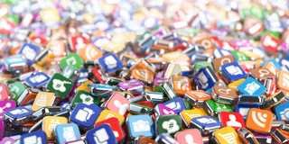 Smartphone apps. Application internet software icons background.