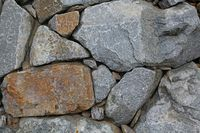 background wall of big gray stones