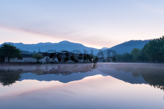 chinese ancient villages in dawn