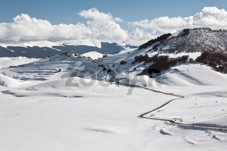 Castelluccio of Norcia in winter