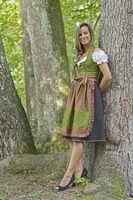 Dirndl dress Shooting  in forest