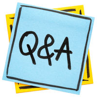 QA - questions and answers sign