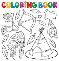 Coloring book Native American theme 1