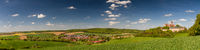 Beautiful hillscape at castle Ronneburg