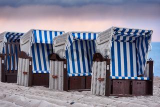 Verlassene Strandkörbe