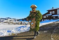 Woodland and Nature Chlaus at the Urnäsch Silvesterkläuse procession,Switzerland