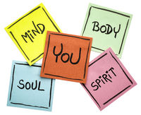 you, body, mind, soul, and spirit - sticky note set
